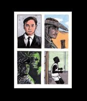 Leslie Cheung Sketchcards by didism