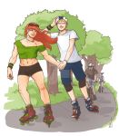 011 - Chris and Vero skating togehter by foolish-me-1232