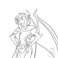 Gargoyles Request : Aella by coda-leia