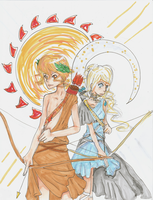 apollo and artemis by anna62a