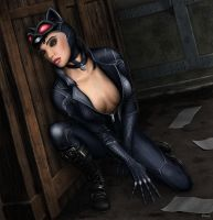 Selina beside the box (in color) by Antimad1