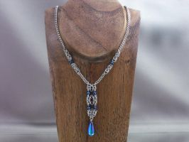 Byzantine Column Chainmail Necklace by Pharewings