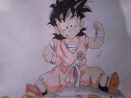 kid gohan (finished) by shadowvid55