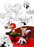 Knuckles VS Fang by gizmo01
