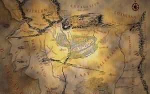 Map of Beleriand wallpaper by MarieStockholm
