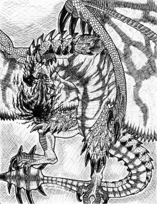 Rathalos Inked by noverin-ghost