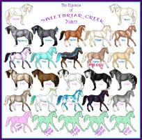 Equines of Sweetbriar Creek by NoodleMutt