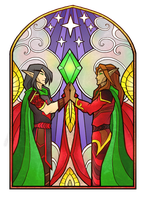 stained-glass window by Tintariel