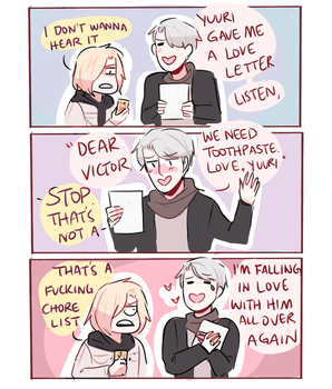 YOI: LOVE LETTER by Randomsplashes