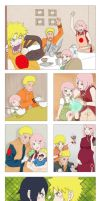 NaruSaku and SasuIno family by Rael-chan89
