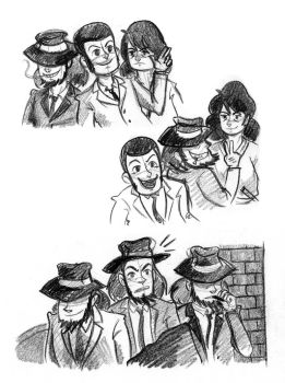 Lupin sketches by TRAVALE