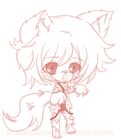 For ocelot-girl: Chibi Madden Sketch by Cherry-Fizzle