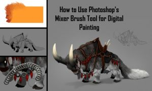 How to Use Mixer Brush Tool for Digital Painting by MonikaZagrobelna