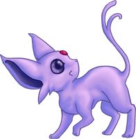 CUTE Espeon by dragowlfly