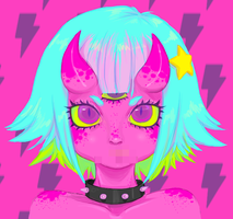 demon girl by 8bitto