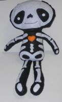 Halloween Skeleton Felt Rag Doll by kiddomerriweather