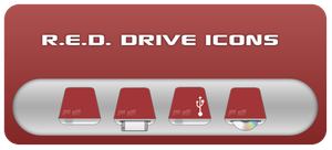 R.E.D. Drive Icons by ifido