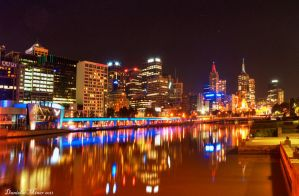 Friday Night in Melbourne HDR by DanielleMiner