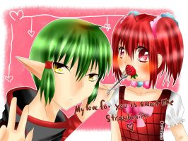 My love for you is sweet like strawberries. by Cherichu