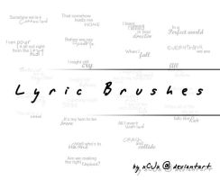 Lyric Brushes by xCJx