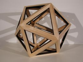 icosahedron sculpture by sharp-chisel