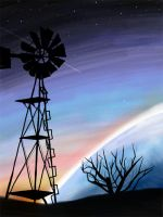 Windmill on Another World by icjaker