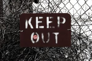 KEEP OUT... by monsterfiend
