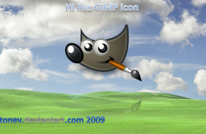 Gimp hi res icon by tonev