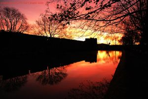 Dawn Over the Moat by EarthHart