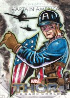 CAPTAIN AMERICA  Thor the dark world sketch card by JASONS21