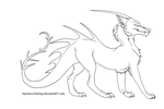 Dragon-Wolf Lineart by Hatchico-Commissions
