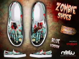 Blue Version- ZOMBIE shoes by corArze
