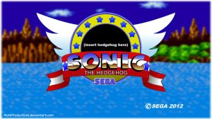 Sonic The Hedgehog Title HD (empty) by MarkProductions