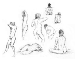 Female Anatomy - Practice. by OakKs