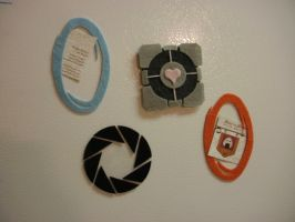 Video Game Magnet - Portal by merlinemrys