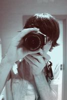 Myself portrait with my new Canon EOS 600D by MilanVopalensky