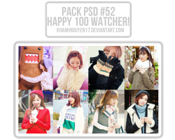 Pack PSD #52 - Kya Nguyen's [HAPPY 100 WATCHER] by khanhnguyen17