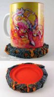 Fire Dragon Mug by Voice-of-Wind