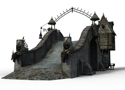 Medieval bridge tower 05 by coolzero2a