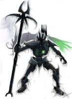 a gift Necron for a friend by Leux-tl