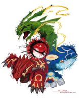 Pokemon Tattoo Honenn-trio by lorestra