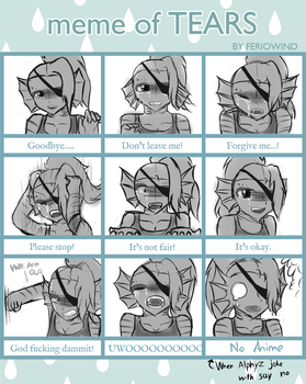 [GZtale] meme of tears Undyne by FukuroMami555