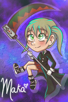 Maka Chibi by flamingmarshmallows