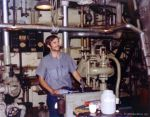 Me in an Engine Room, age 19 by inspiredcreativity