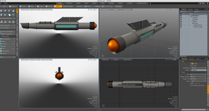 Modo Starship WIP 1 by stourangeau
