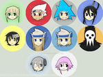 Soul Eater Button Set by WhiteOblivion