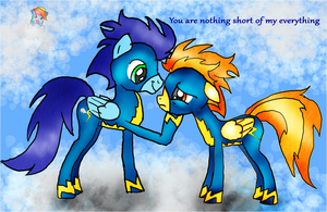 SpitfireXSoarin love in the clouds by Froncake