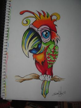 Cartoon Parrot by nightmare58710