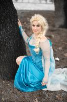 Elsa on the grass by Feelyah