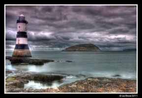 Lighthouse and Puffin Island by Leeby